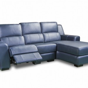 Leather lounges in Brisbane in navy