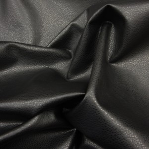 Black 'PU' Leather Looks like leather but has none of the properties of Real Leather