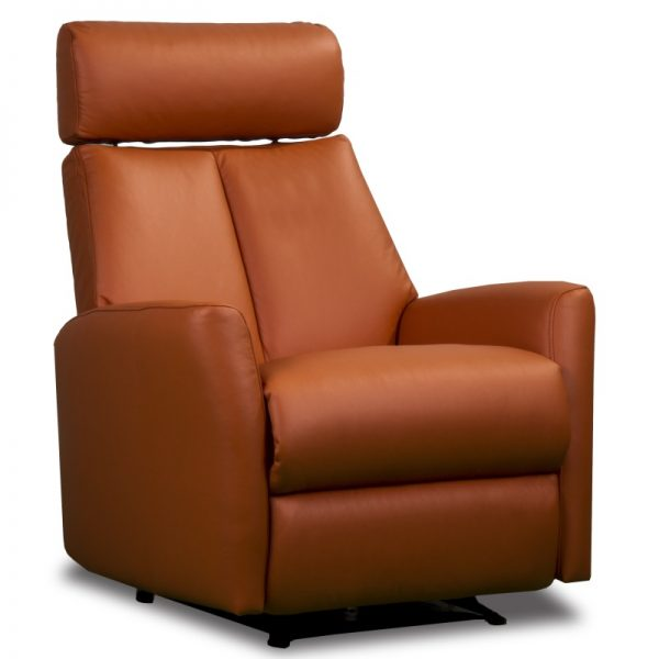Leather Media Room Chairs Orange