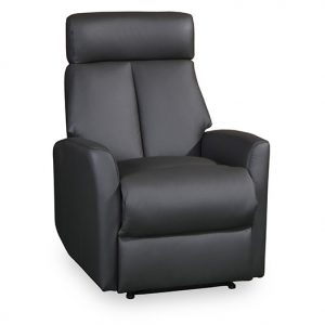 603 recliner in black leather