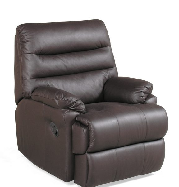 Small Brown Leather Recliner