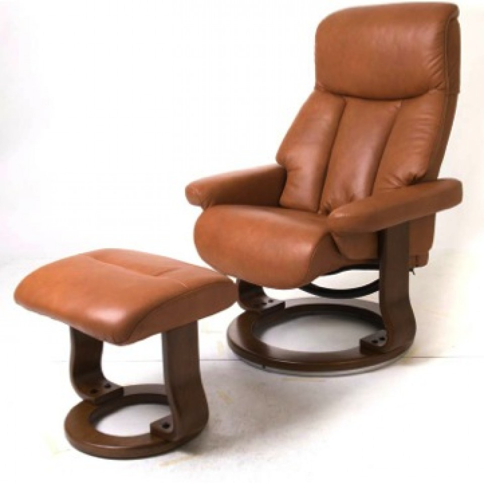 Bella Swivel Recliner and Stool