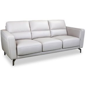 Hollywood 3 seater in Ivory leather