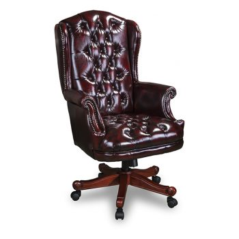 Nadia office chair in washed off burgundy