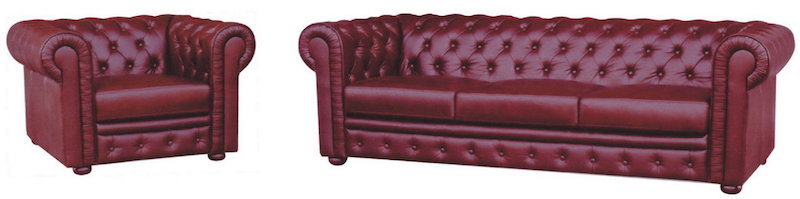 Sheffield Chesterfield Leather Sofa 315