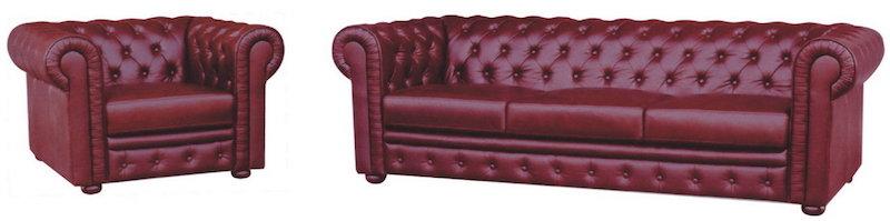 Oxblood Chesterfield Sofa | Sheffield | Devlin Lounges
