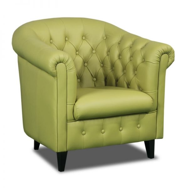 Spencer Lime Tub Leather Chair