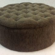 Diamond Button Top Ottoman