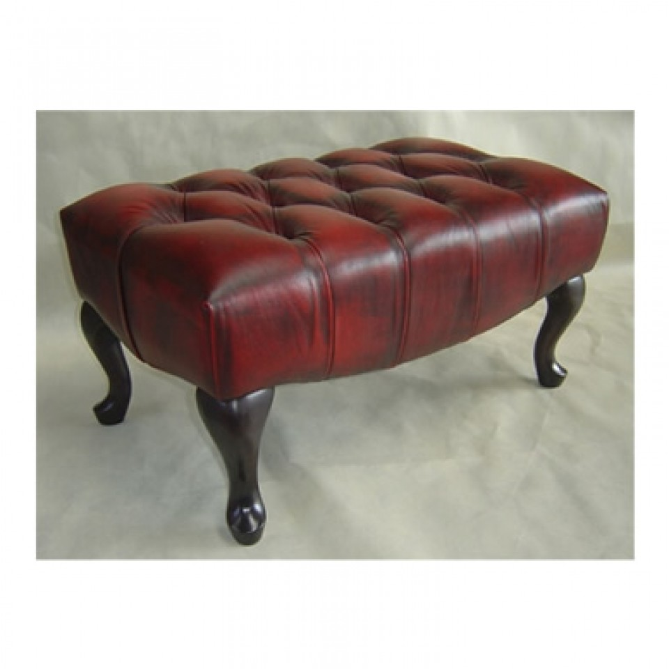 Leather Foot Stool Paris Chesterfield Brisbane