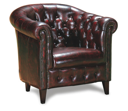 Spencer Leather Chesterfield Tub Chair
