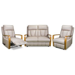 3176 small reclining sofa with 2 recliners in coffee leather  sc 1 st  Devlin Lounges & Recliner Lounge Suites | Brisbane | Gold Coast | Sunshine Coast ... islam-shia.org