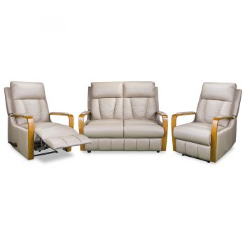 3176 recliner suite in cobblestone leather