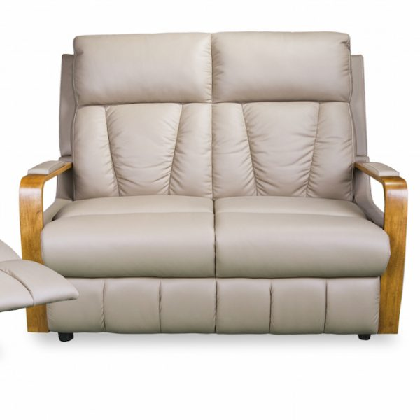 3176 small reclining sofa with 2 recliners in coffee leather