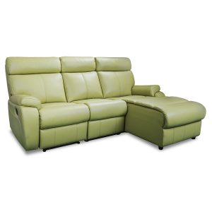 3178 couch with chaise and recliner in lime leather  sc 1 st  Devlin Lounges & Recliner Lounge Suites | Brisbane | Gold Coast | Sunshine Coast ... islam-shia.org