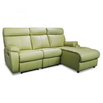 3178 chaise recliner lounge in lime leather