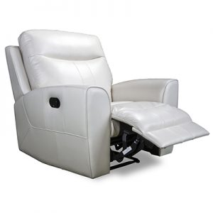 3180 recliner in white leather