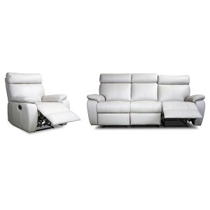 3182 ivory leather recliner sofa