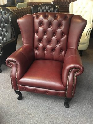 Gantry Burgandy Wing Chair