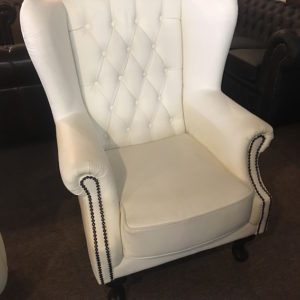 Sherwood White Wing Chair clearance item