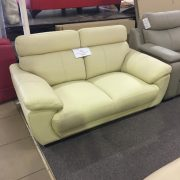 1010 leather lounge clearance item in cream leather