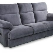 Catalina Recliner sofa in grey fabric