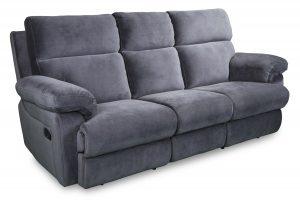 Catalina Recliner sofa in grey fabric