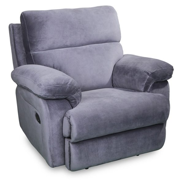 Catalina recliner in grey fabric