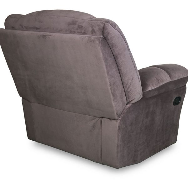 Turin Single Recliner in brown fabric
