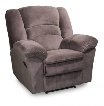 Turin fabric recliner chair in brown fabric