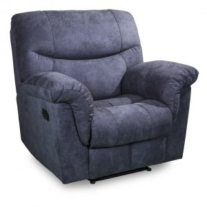 Pesaro 3188 recliner in grey fabric front angle view