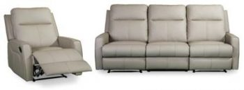 Hazman Leather recliner couch in cappuccino leather