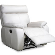 3182 recliner in ivory leather