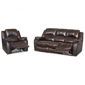 Luke 2T Brown recliner lounge suite
