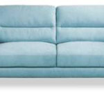 Memphis 3 seater in blue fabric