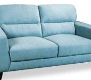 Memphis 2 seater in blue fabric
