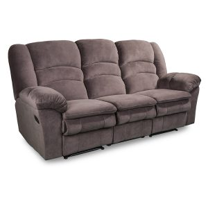 Turin 3 seater in chocolate brown fabric