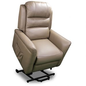 jersey dual motor lift recliner in coffee leather