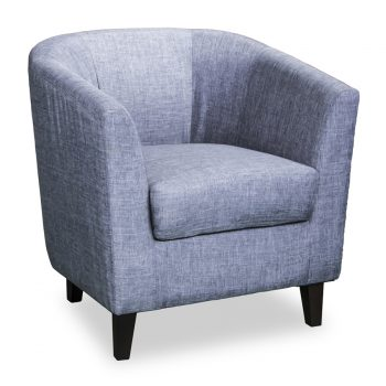 Toby fabric tub chair in blue fabric