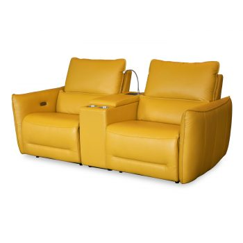 Positano Electric recliner in yellow leather
