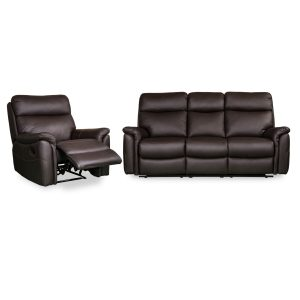Horizon Rec plus 3 seater in brown leather