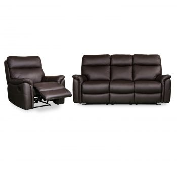 Horizon Rec plus 3 seater in brown leather