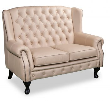 Paris 2 seater in cappuccino leather